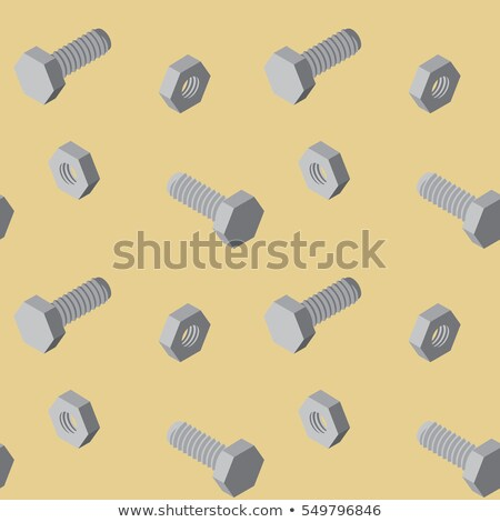 Bolts and screws 3D pattern. Vector Illustration. Stock photo © fixer00