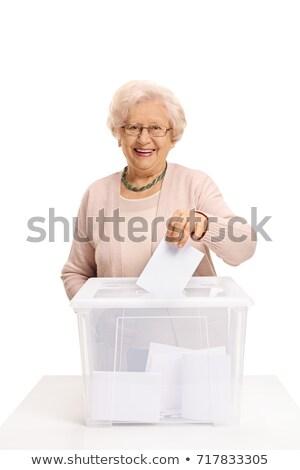 idős · hölgy · szavazás · új · optikai · nő - stock fotó © lisafx