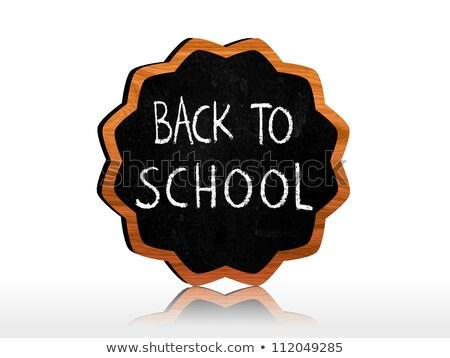 Stock photo: back to school on starlike blackboard