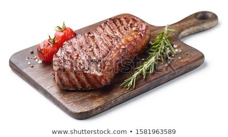 ızgara · sığır · eti · gıda · yağ · akşam · yemeği · domates - stok fotoğraf © m-studio