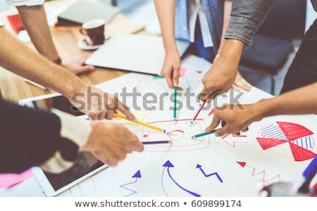 бизнеса цель команда люди достичь Сток-фото © idesign