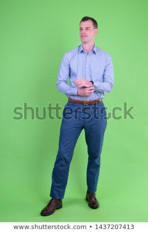 シャツ 緑 画面 ビジネス 技術 背景 ストックフォト © haiderazim