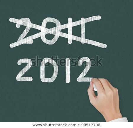 schoolbord · schrijven · 2012 · chinese · draak · jaar · ontwerp - stockfoto © raywoo