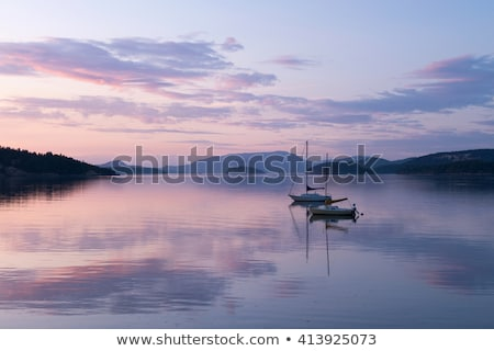 Blauw kust san juan eiland Washington kalk Stockfoto © jarenwicklund