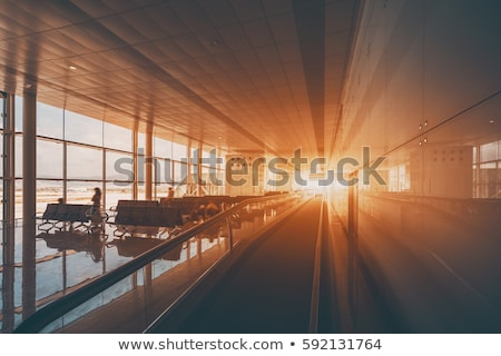 Moving walkway in the airport. Stock photo © Kurhan