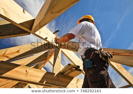 Construtor trabalhar casa homem trabalhador tijolo Foto stock © photography33