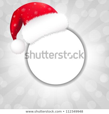 kırmızı · konuşma · balonu · Noel · ikon · eğim - stok fotoğraf © adamson
