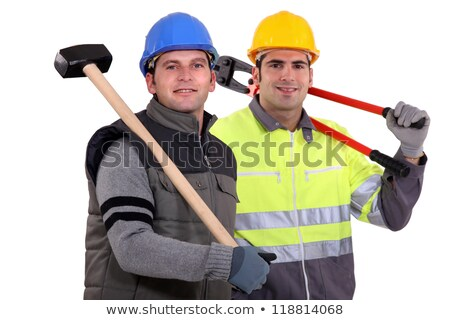 Two workers with tongs and shoulder harness Stock photo © photography33