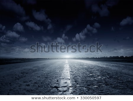 Photo stock: Sombre · route · style · rétro · image · rural · Allemagne