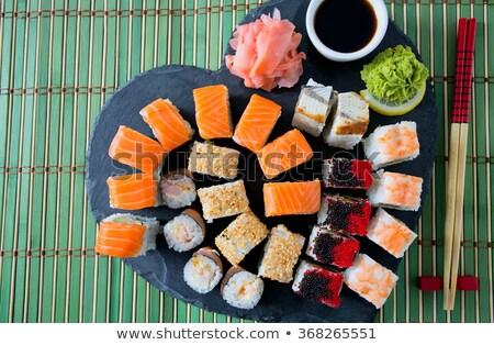 sushi · pepino · aislado · blanco · alimentos · rosa - foto stock © elmiko