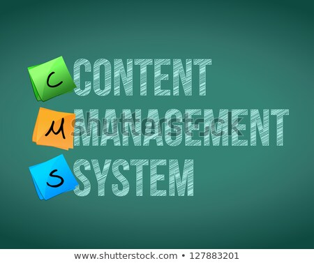 Content Management System Acronym Photo stock © alexmillos