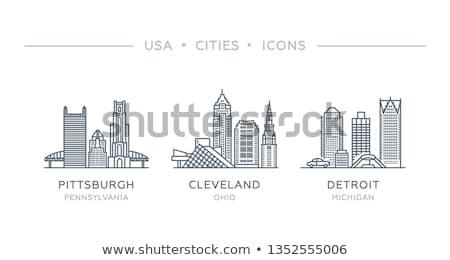 rajz · sziluett · sziluett · város · városi · építészet - stock fotó © blamb