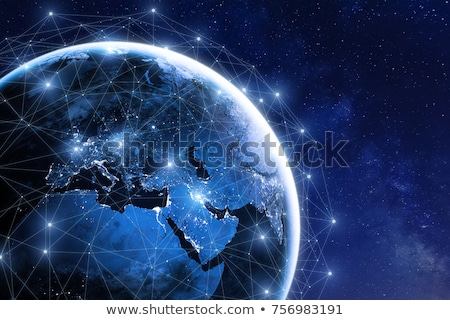 Planète trois globes ordinateur internet Photo stock © fenton