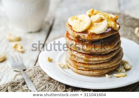 plátano · crepe · crepe · Asia · estilo · desayuno - foto stock © m-studio