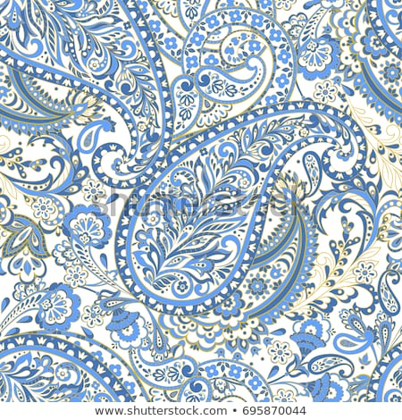 Colorful seamless paisley background stock photo © juliakuz