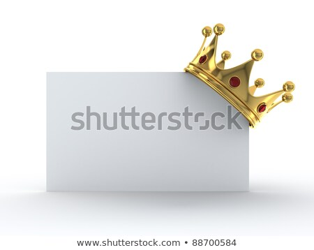 Golden Crown On Blank Card Stock photo © adamson
