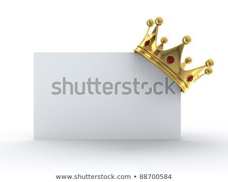 príncipe · princesa · corona · rey · reina · vector - foto stock © adamson