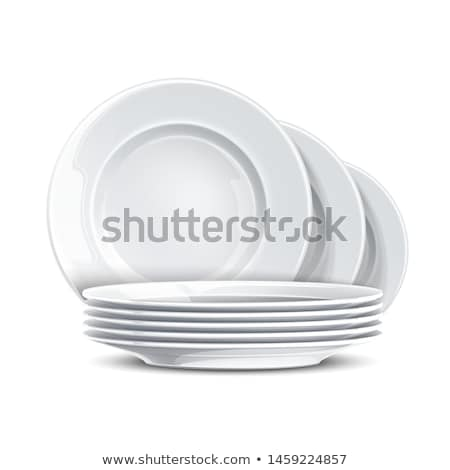 スタック · 料理 · 白 · 銀 - ストックフォト © ozaiachin