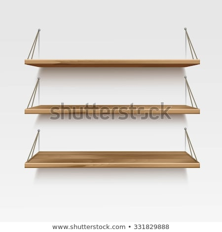 Books on Wood Shelf stock photo © iTobi