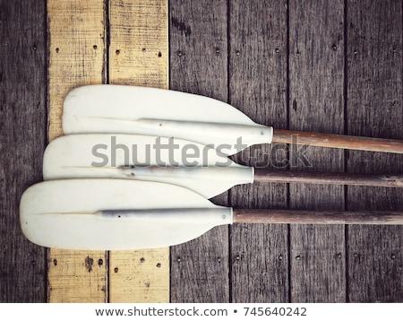 Oars On A Dock Stock photo © searagen