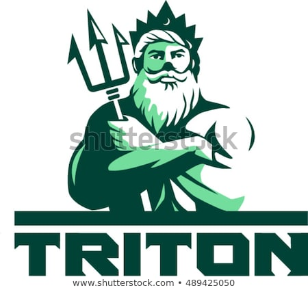 Merman with Trident Stock photo © AlienCat