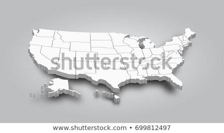 Stok fotoğraf: United States 3d Map