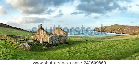 cornwall · médiévale · chapelle · paysage · mer - photo stock © mosnell