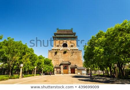 ストックフォト: 古代 · 中国語 · ドラム · ドラム · 塔 · 北京