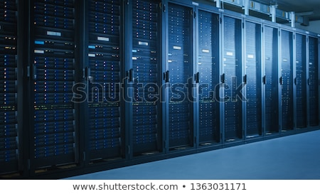 Empty row of servers in data center Stock photo © wavebreak_media