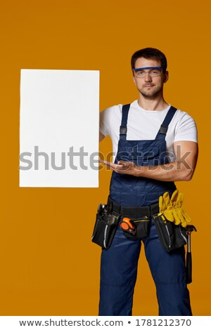 craftsman holding a board Stock photo © photography33