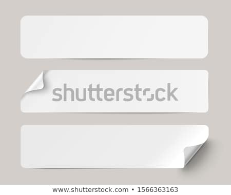 Stock photo: White Stickers