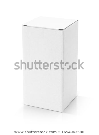 close up of a white box on white background with clipping path stock photo © Zhukow