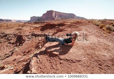 jeans and boots at Monument Valley Stock photo © vwalakte