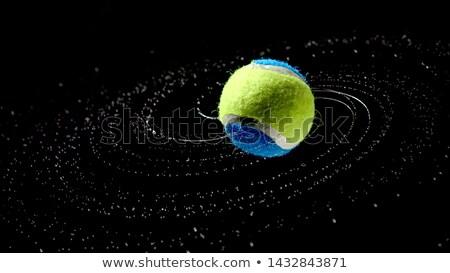 Teniszlabda csobbanás sport nyár felirat labda Stock fotó © Kesu