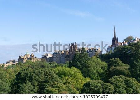 Edinburgh, View on city over Princes Street Gardens, Scotland Stock photo © Bertl123