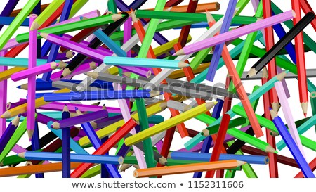 Colorful pencils chaos backgound stock photo © make