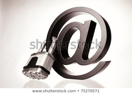 Internet sécurité alphabet rouge carte d'identité blog Photo stock © tashatuvango