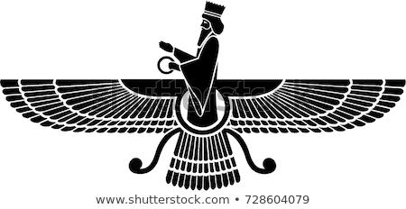 Faravahar- Symbol of Zoroastrianism Religion Stock photo © shawlinmohd