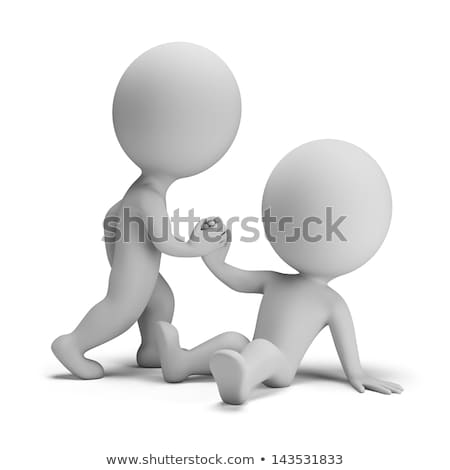 3d small people - succor Stock photo © AnatolyM