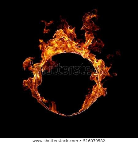 Anneau feu brûlant eclipse énergie solaire chaleur Photo stock © axstokes