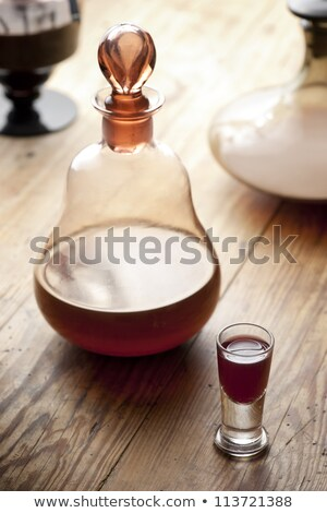 decanter with red liqueur Stock photo © Mikko