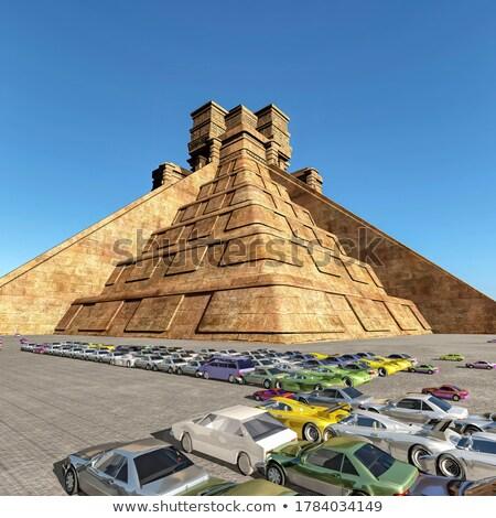 Foto d'archivio: Auto · piramide · legno · giocattoli · legno · retro