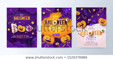 happy halloween banners set vector stock photo © carodi