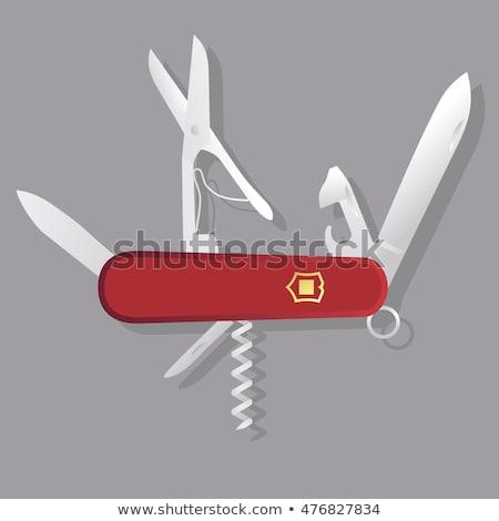 Stok fotoğraf: Ordu · bıçak · yalıtılmış · beyaz · Metal