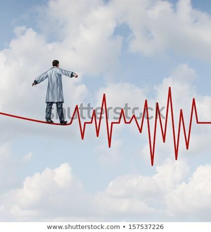 импульс · след · 3D · оказанный · иллюстрация · сердцебиение - Сток-фото © lightsource