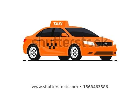 yellow taxi car vector illustration stock photo © kariiika