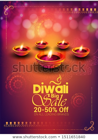 beautiful religious colorful diwali festival with beautiful lamp stock photo © bharat
