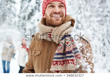 jeunes · hiver · veste · marche - photo stock © hasloo