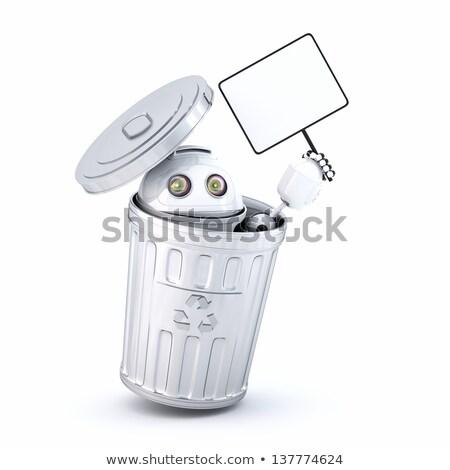 Android robot bent szemét tároló elektronikus Stock fotó © Kirill_M
