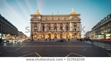 Párizs opera város busz taxi akadémia Stock fotó © ifeelstock